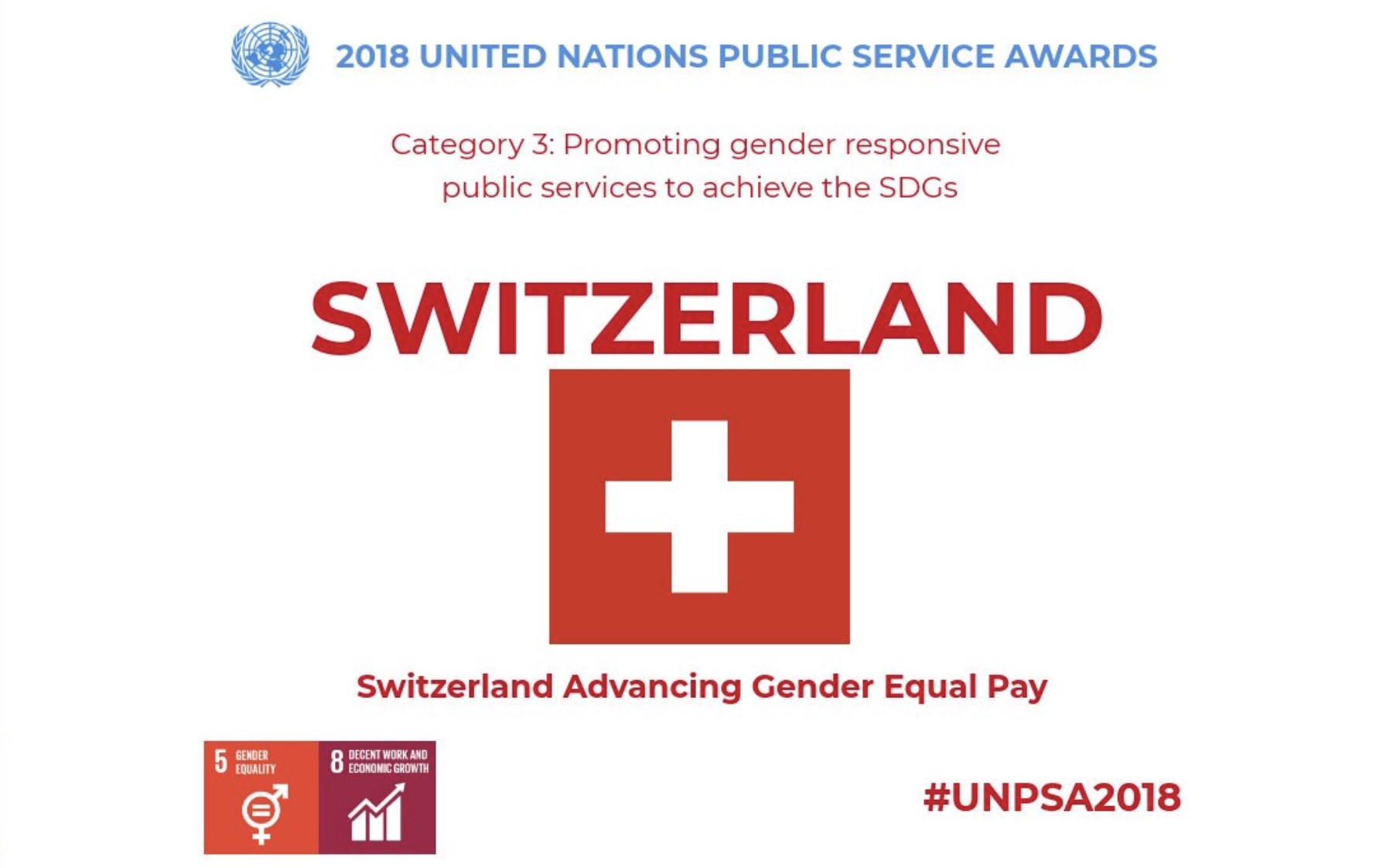 United Nations Public Service Award 2018