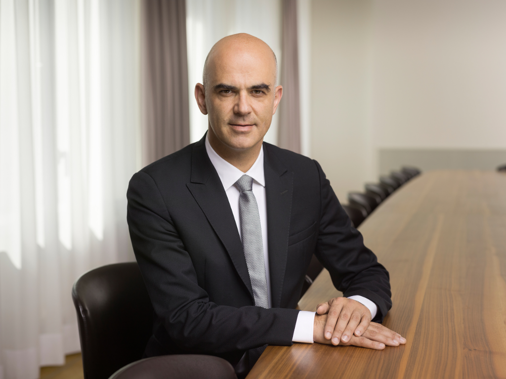 Alain Berset, federal councillor and head of the Federal Department of Home Affairs, January 2015