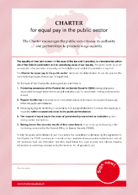 Charter for equal pay in the public sector